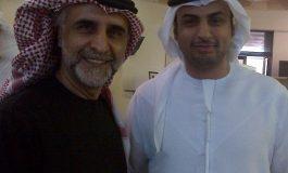محمد القبيسي وصورة مع الفنان حبيب غلوم